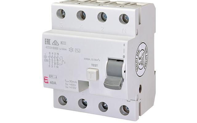 FID sklopka 40A/0,03 3P+N EFI-4 ® Eti